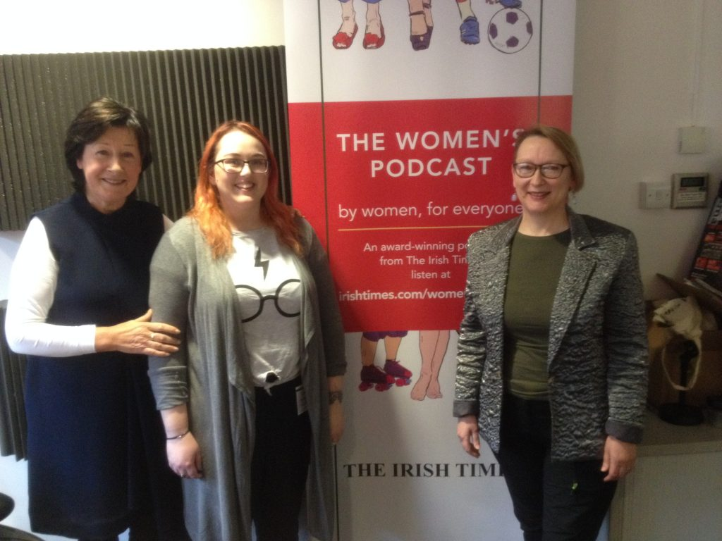 Bébhinn and Julie at the Irish Times Office for The Women's Podcast
