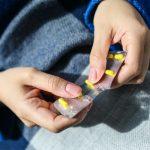 Hands holding medication